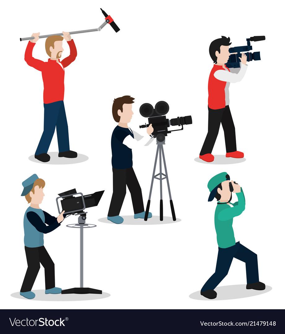 Set of camera mens