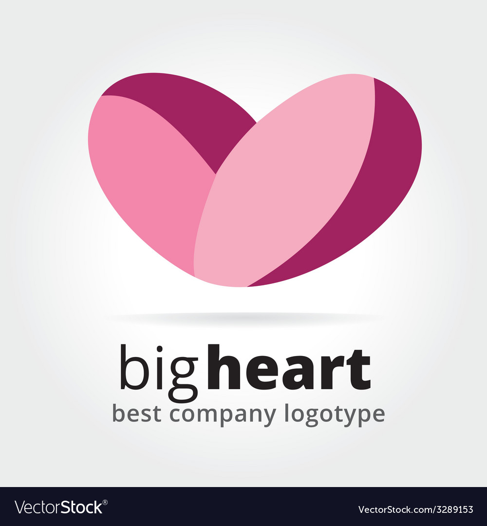 Abstract heart logotype concept isolated on white