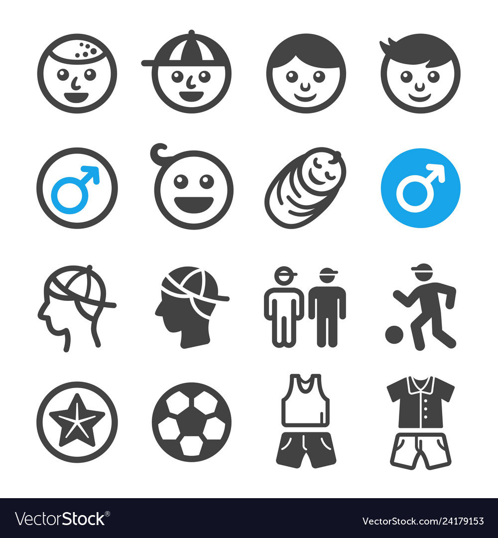 Boy icon set