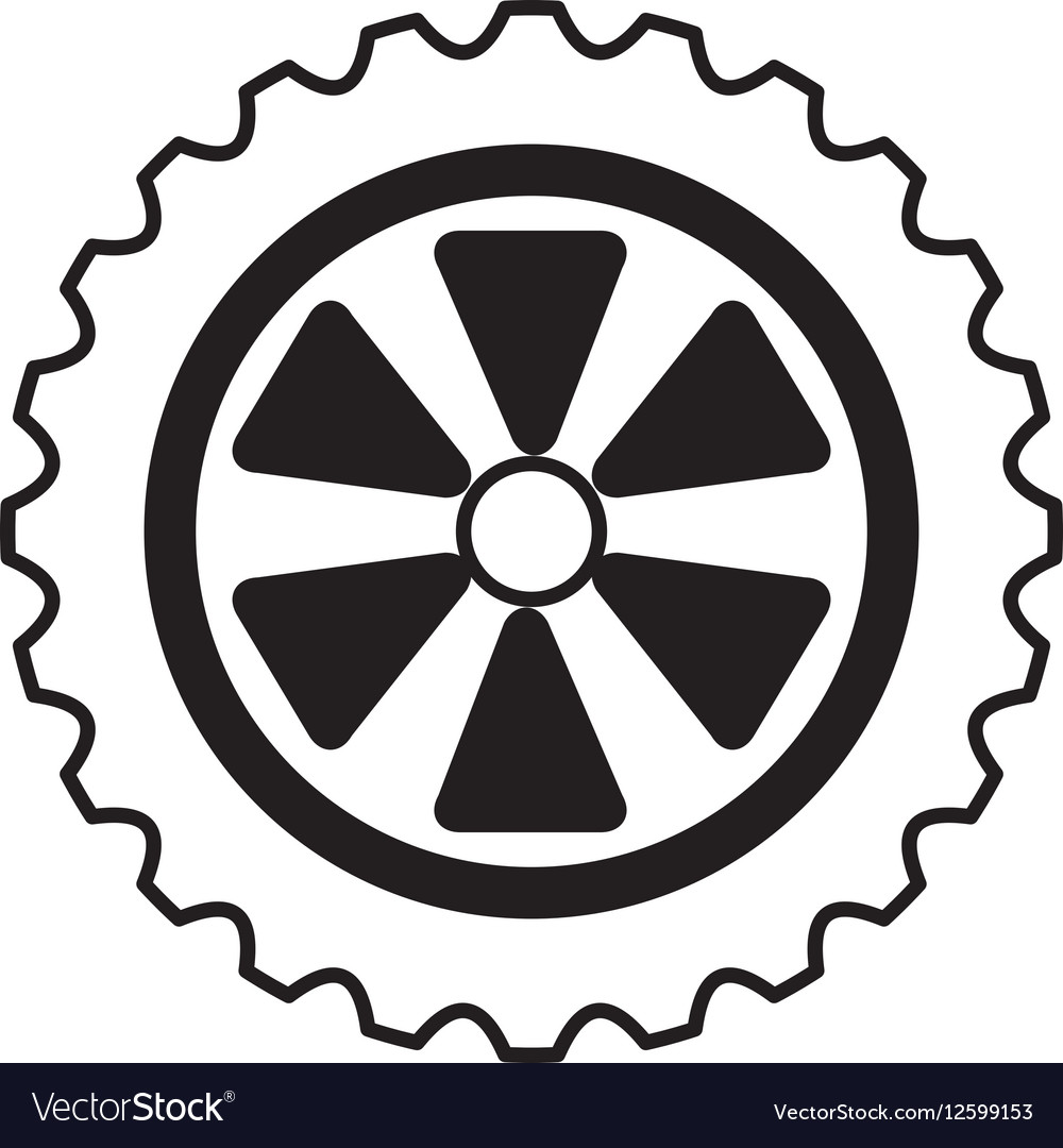 Car tire isolated icon