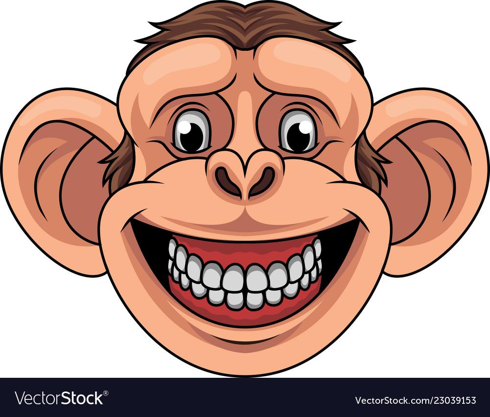 Cartoon monkey head mascot