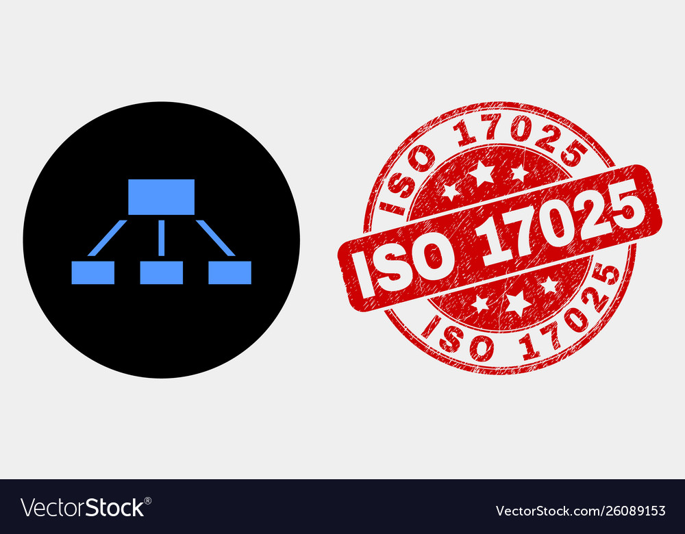 Hierarchy icon and grunge iso 17025