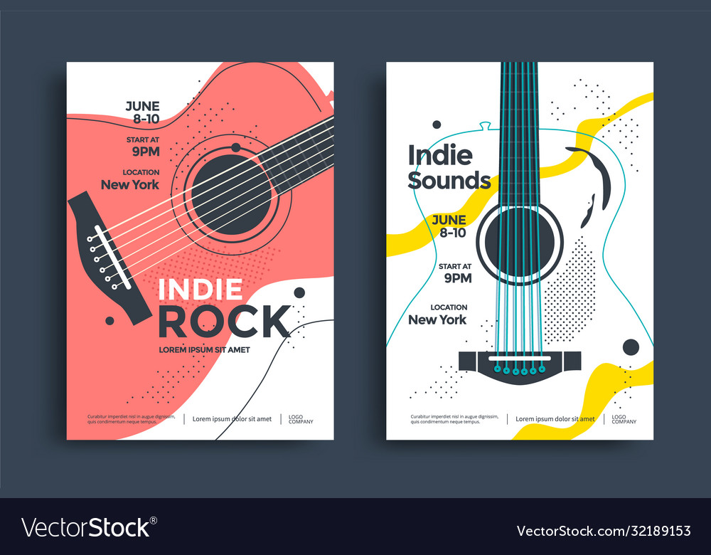 Indie rock poster flyer template