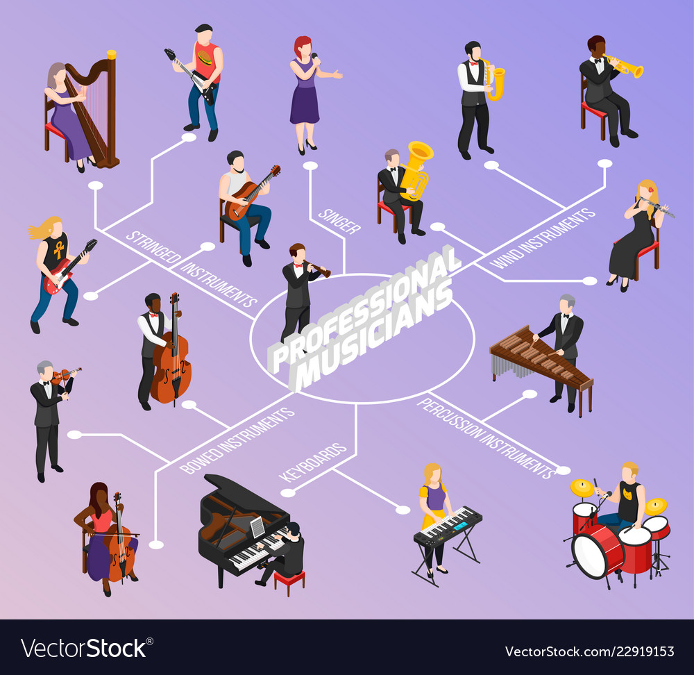 Professional musicians isometric flowchart