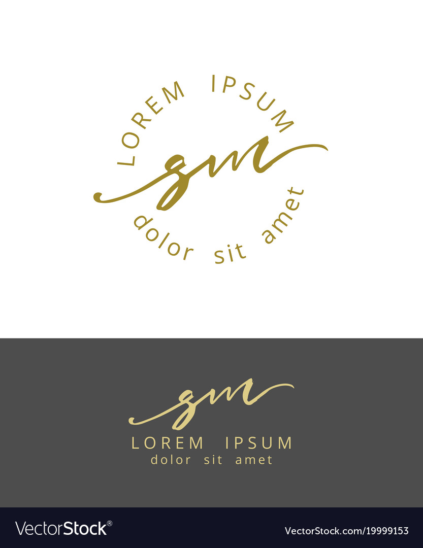 S m handdrawn brush monogram calligraphy logo