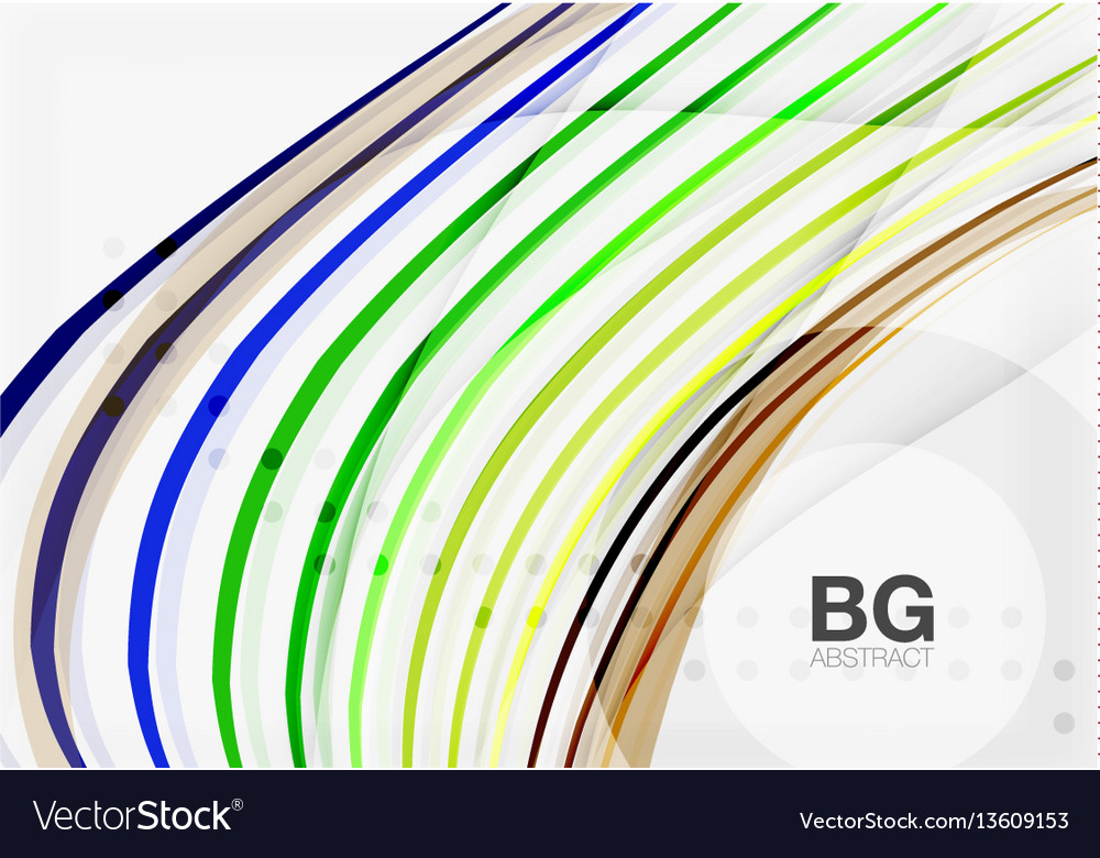 Thin lines wave abstract background vector image