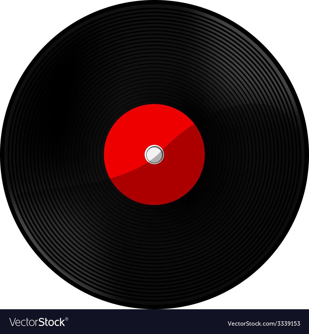 Vinyl red vector image