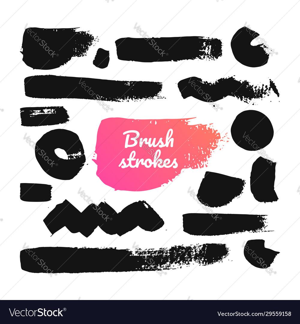 Black brush strokes - set isolated design