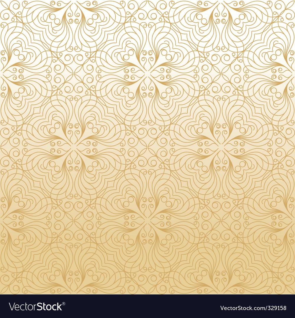 Damask gold background