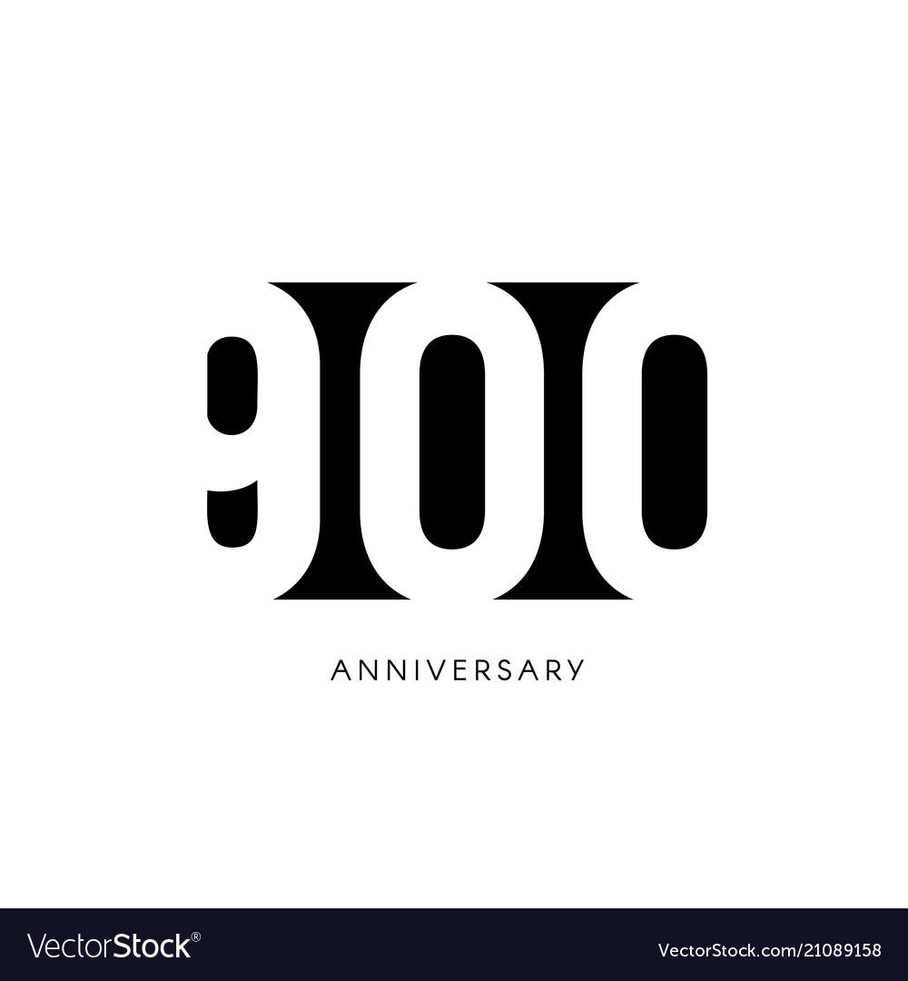 Nine hundred anniversary minimalistic logo nine