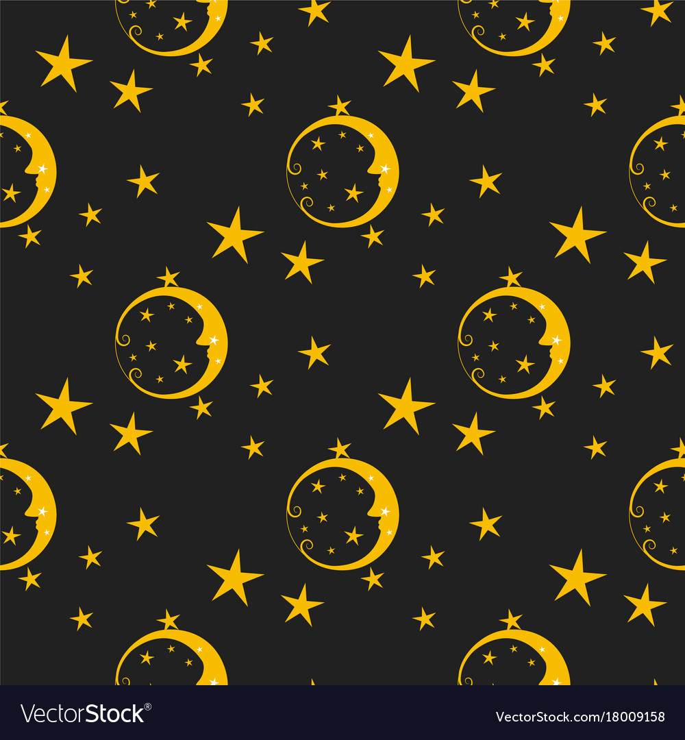 Seamless pattern background moon nature cosmos