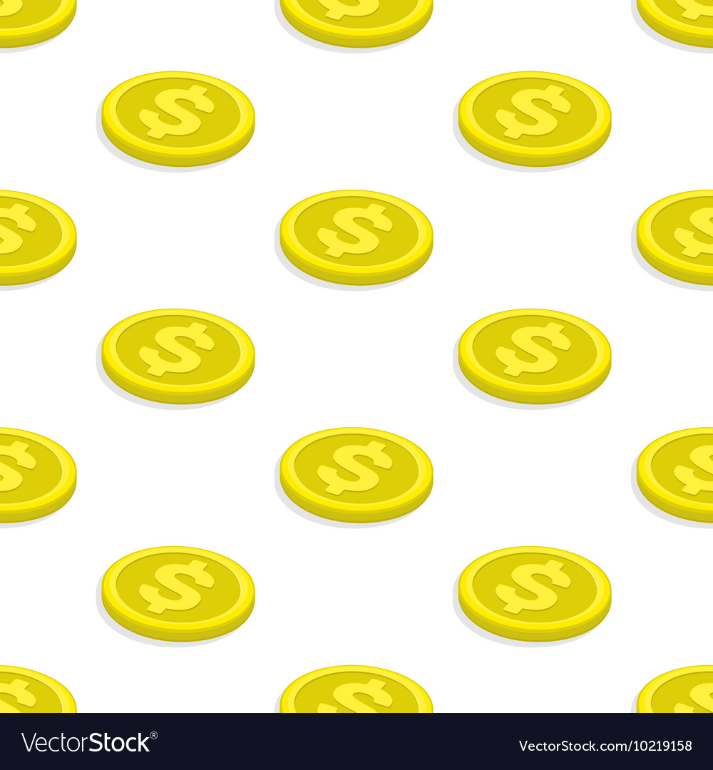 Seamless pattern gold coins