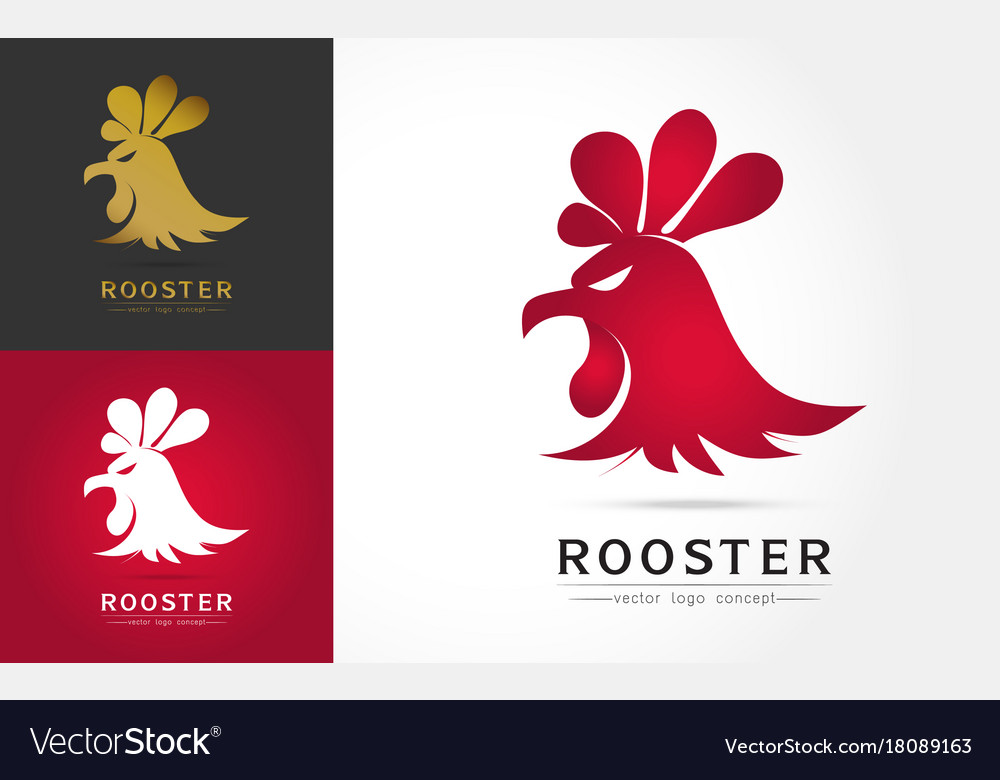 Abstract rooster logo