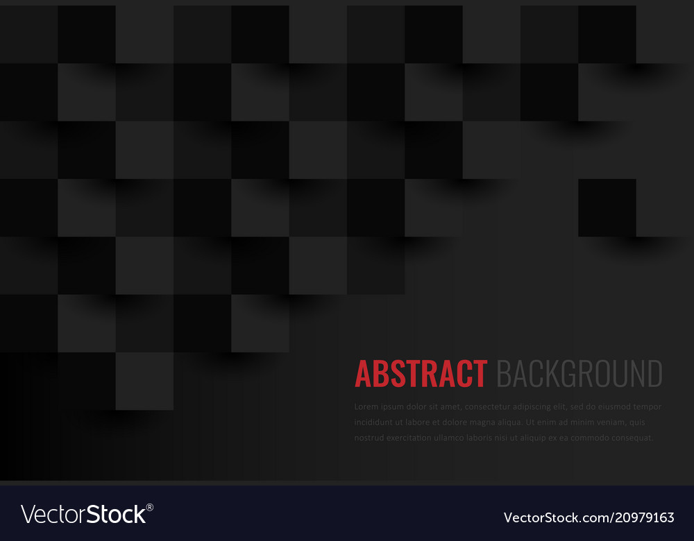 Black background abstract geometric template