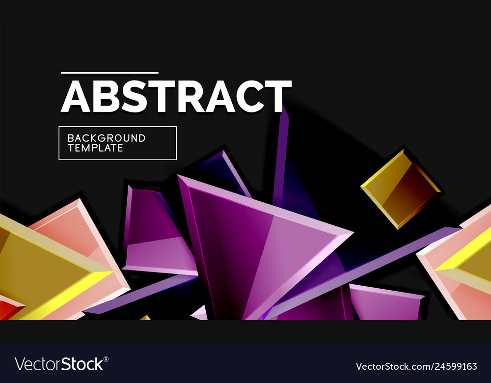 Glossy squares and triangles geometric backgrounds