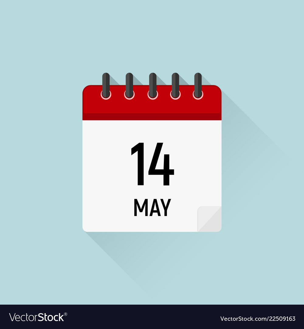 Calendar Days Icon.May 14 Mothers Day Calendar Icon Data Days Of