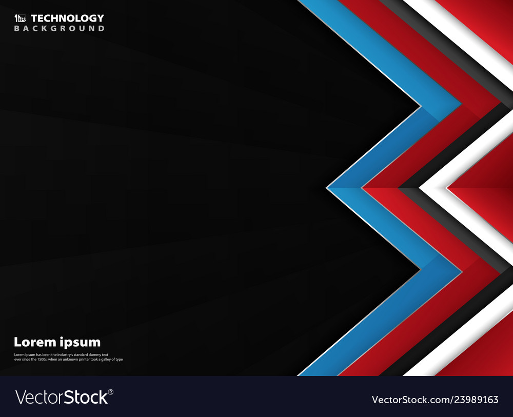 Modern geometric abstract of blue white red