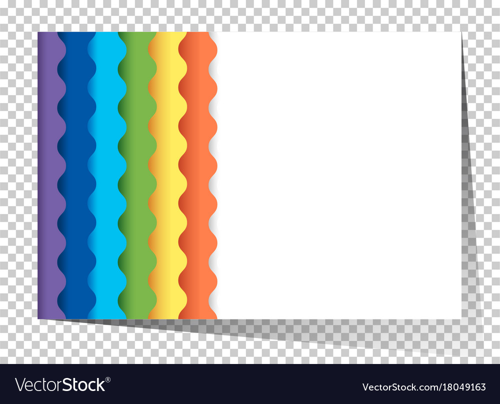 Rainbow Template | Paper Template With Wavy Rainbow On Side Vector Image On Vectorstock