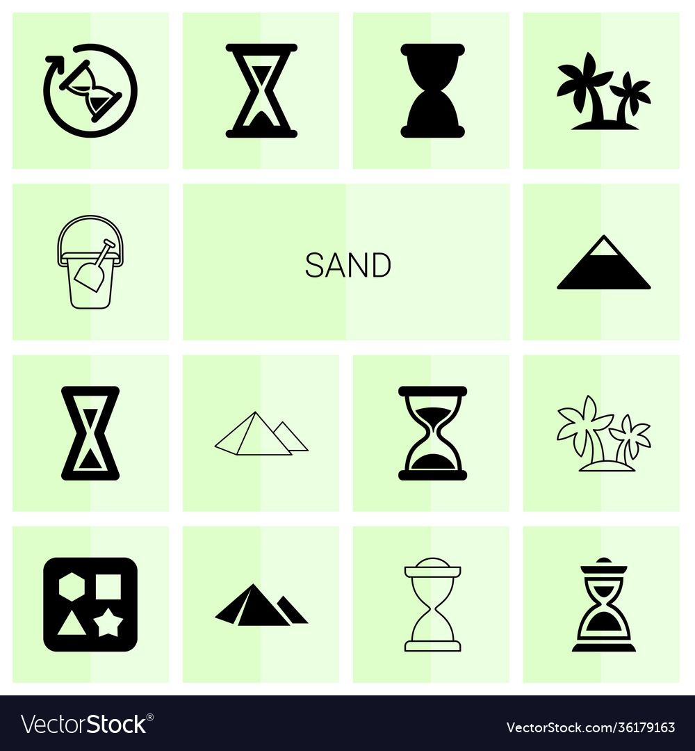 Sand icons