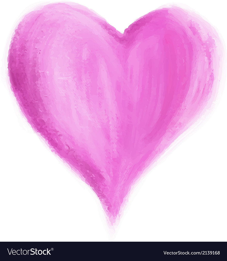 Abstract Watercolor Heart isolated