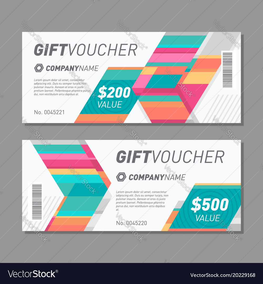Colorful gift voucher template
