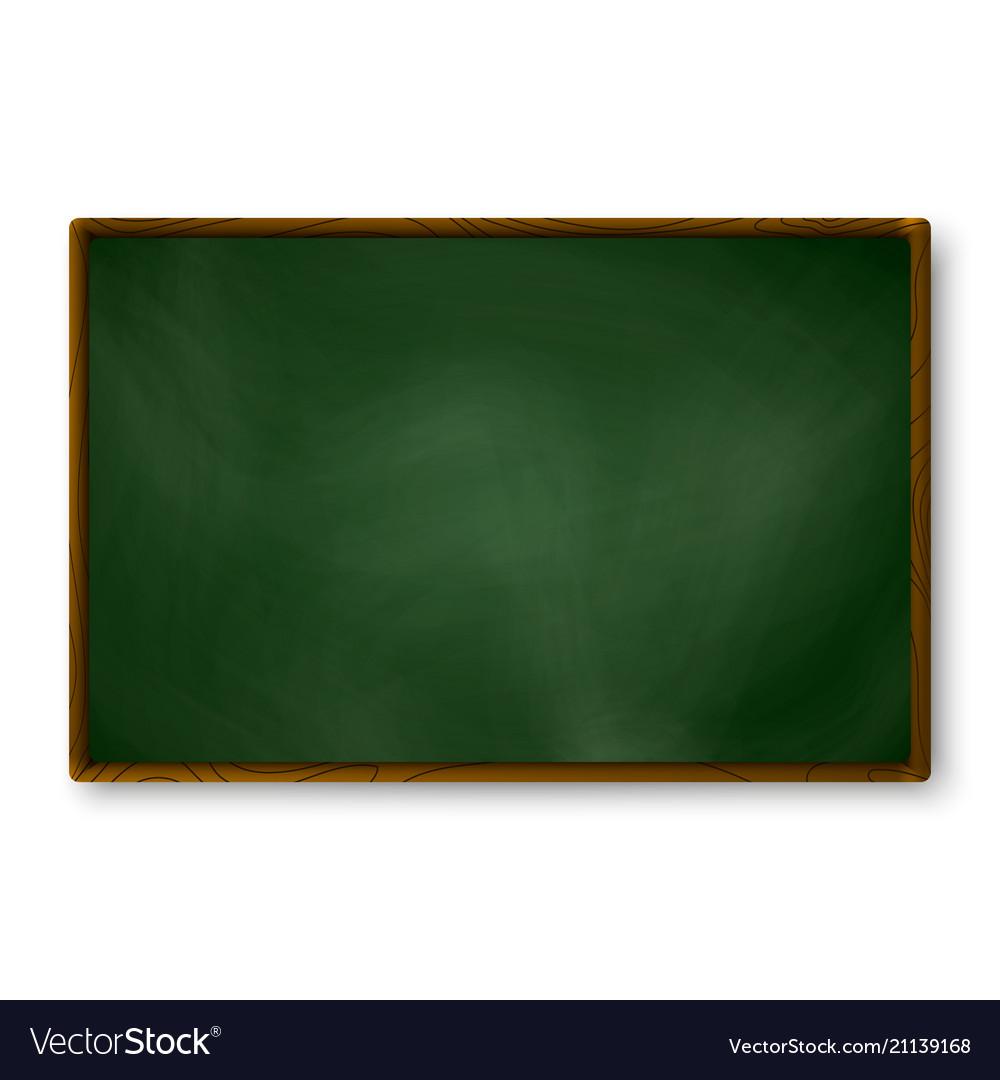 Empty blackboard dark green color on wall