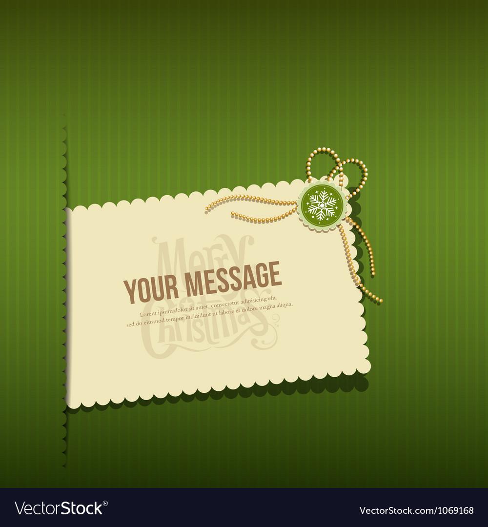 merry christmas modern greeting cards vector image - Modern Christmas Cards