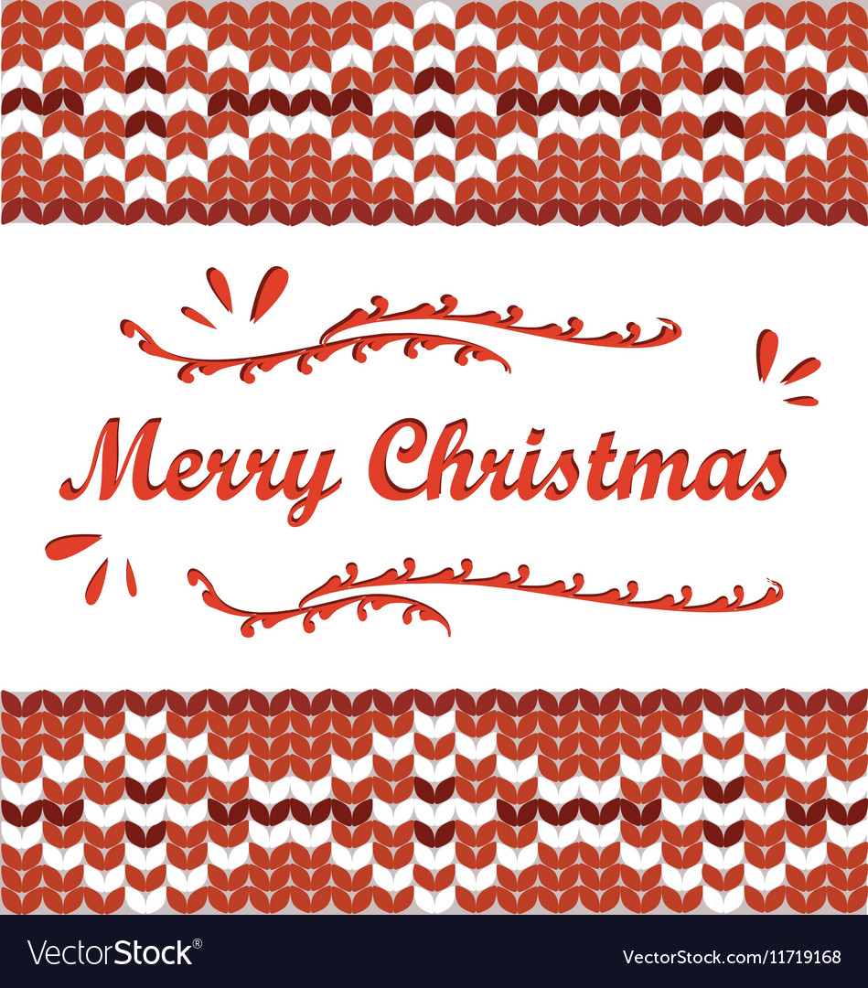 Merry Christmas Scandinavian style knitted pattern