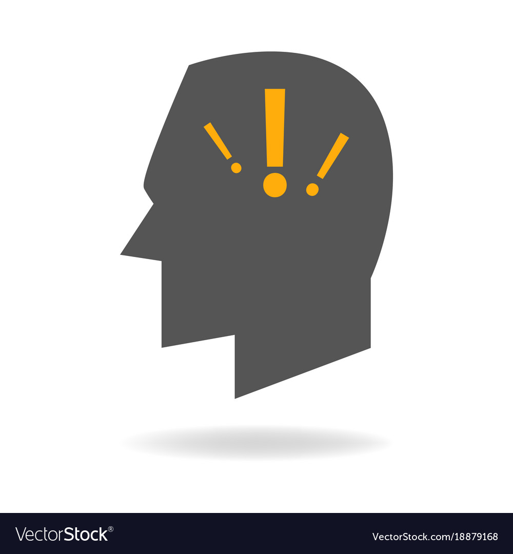 Mind icon of anxiety disorder
