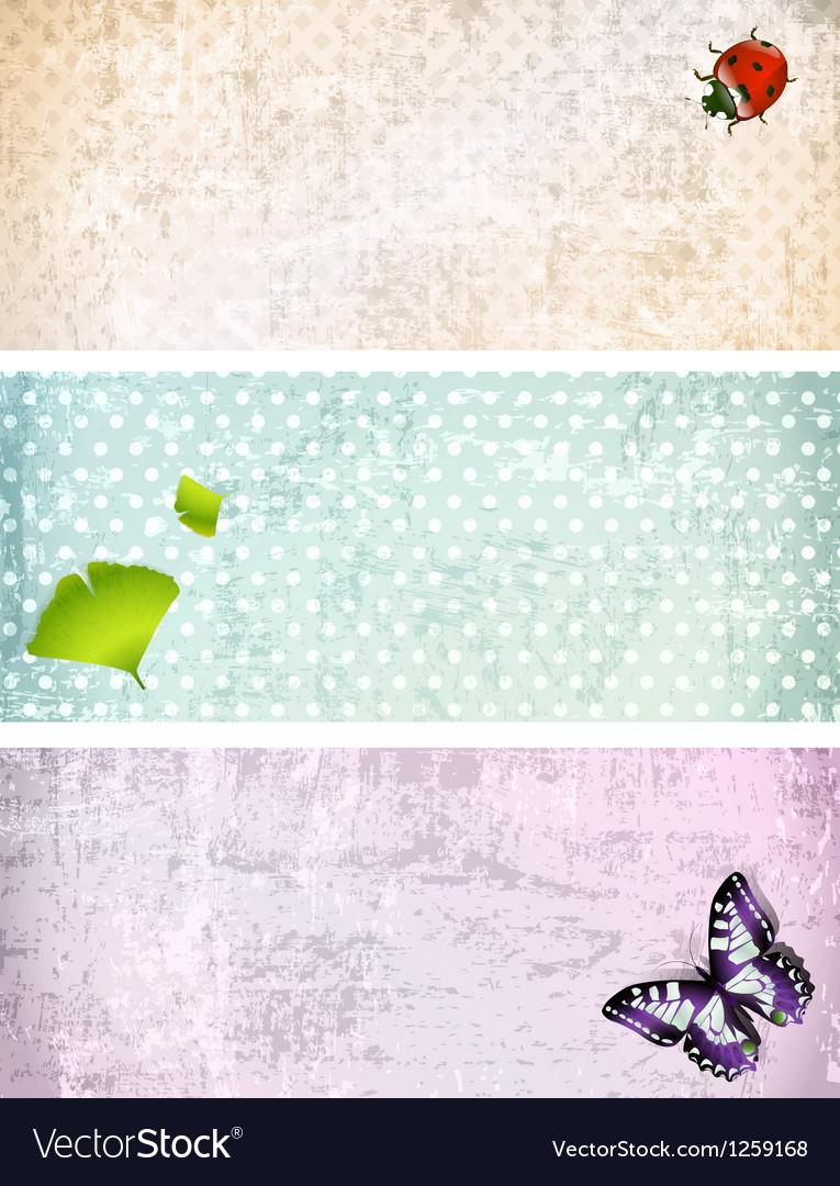 Retro Web Banner Collection vector image