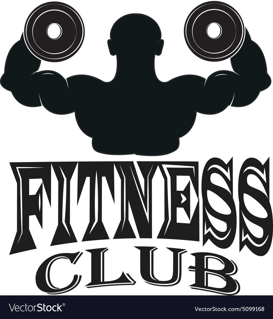 Set of vintage fitness emblems labels and design