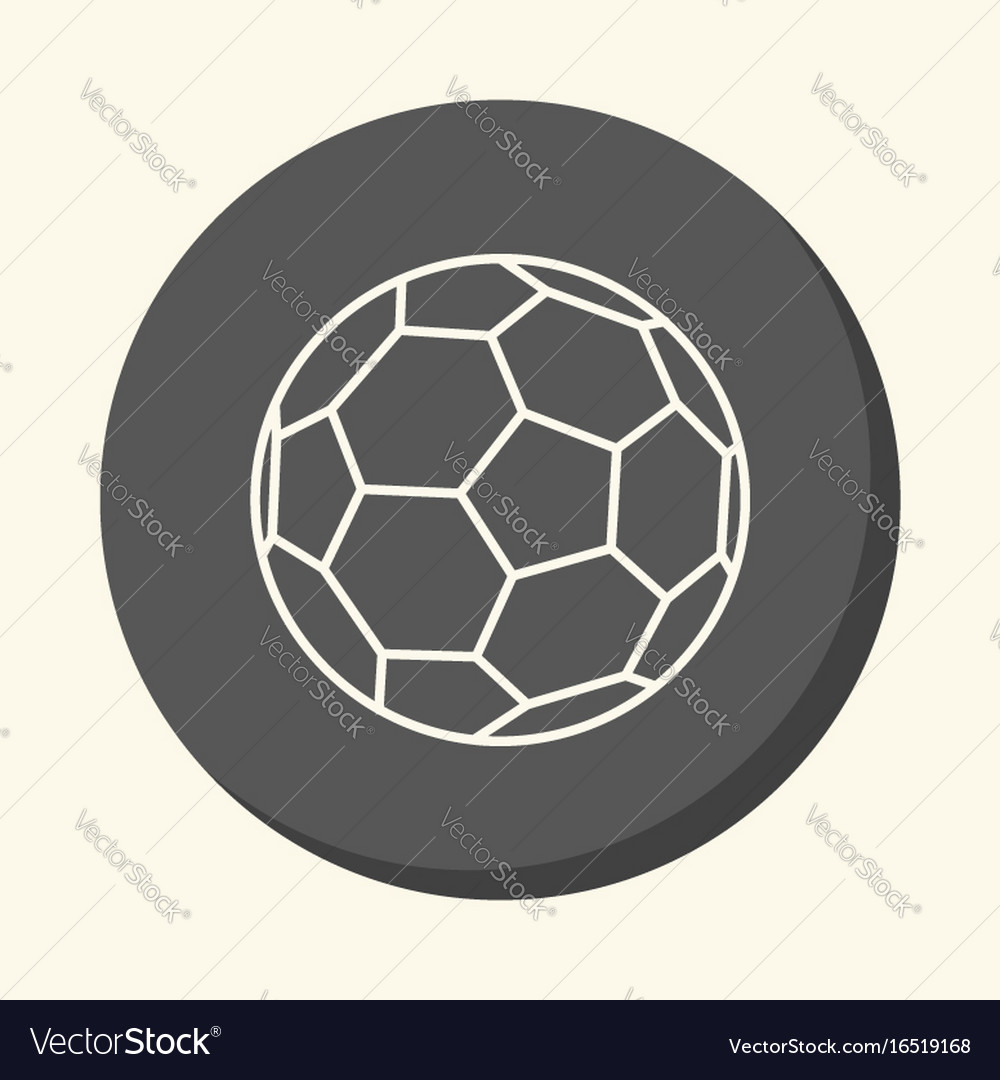 Soccer ball round linear icon with an