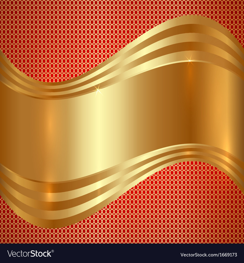 Abstract Gold Background With Curves