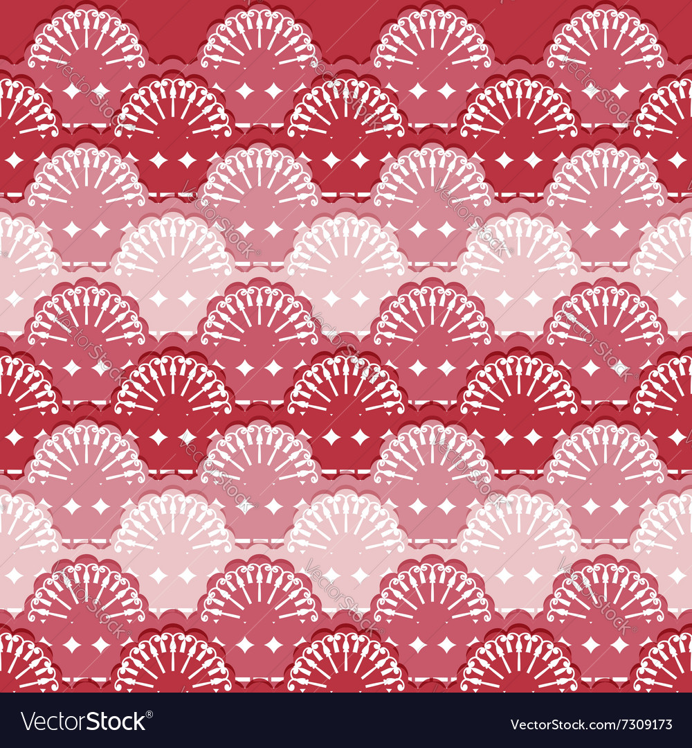 Abstract textile seamless pattern of lace ribbons