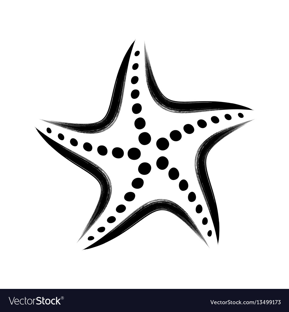 Black stylized starfish