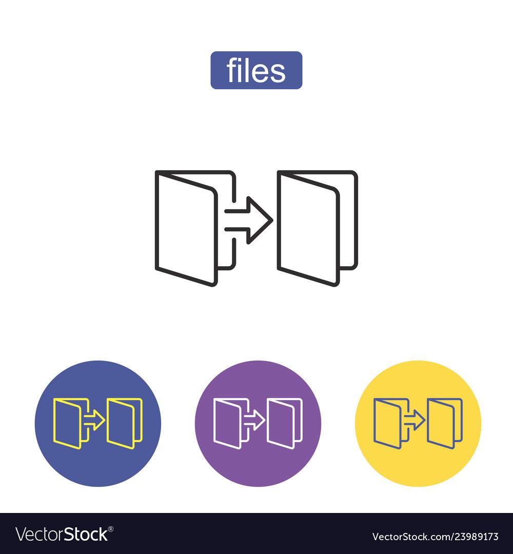 Folder outline icon