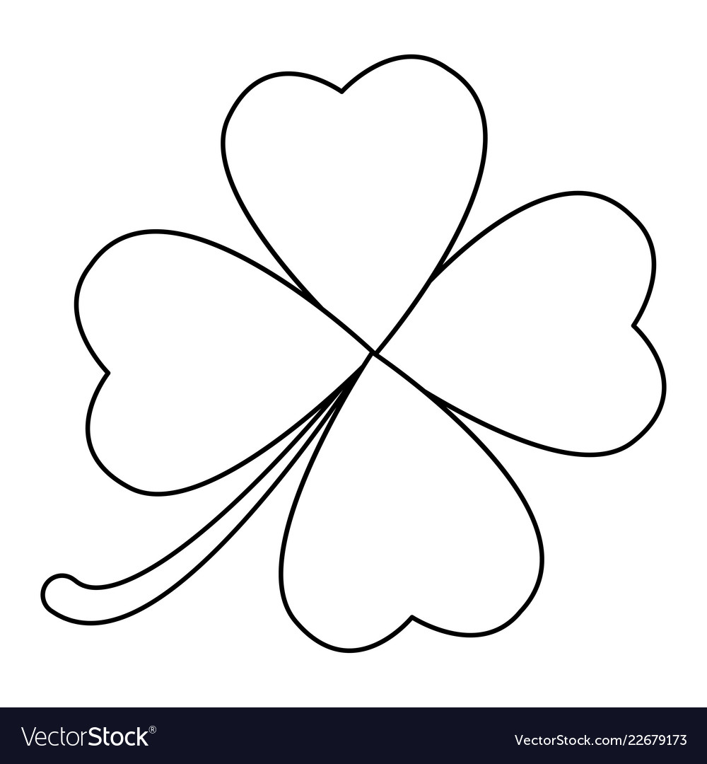 Four leaf clover design isolated on white