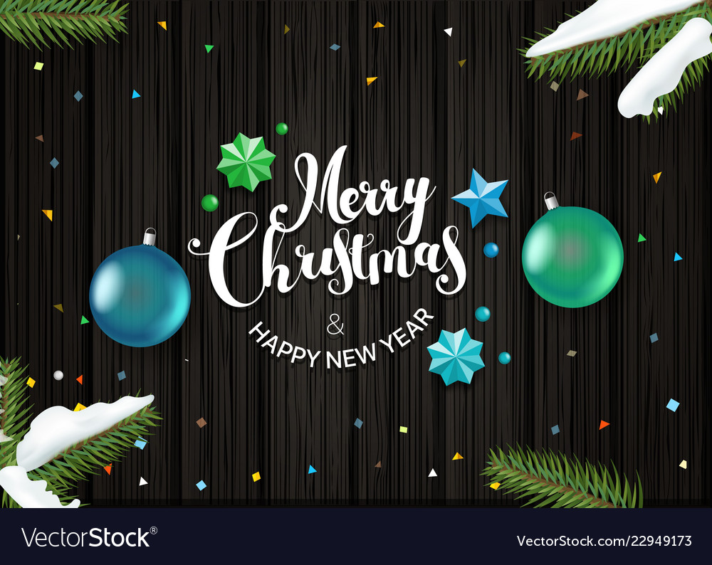 Happy holidays wishing card template top view