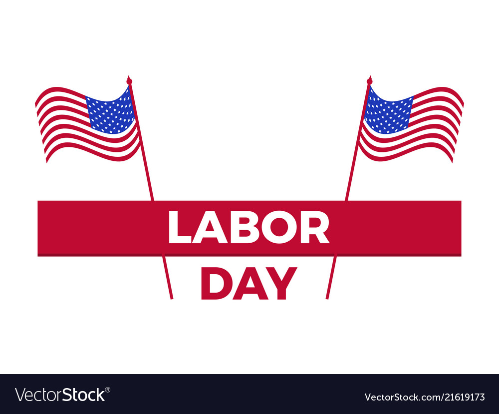 Labor day united states national flag greeting