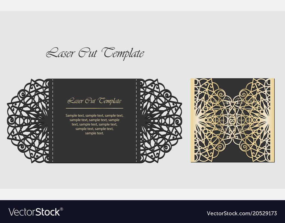 Laser cut gate door fold card wedding invitation vector image stopboris Gallery