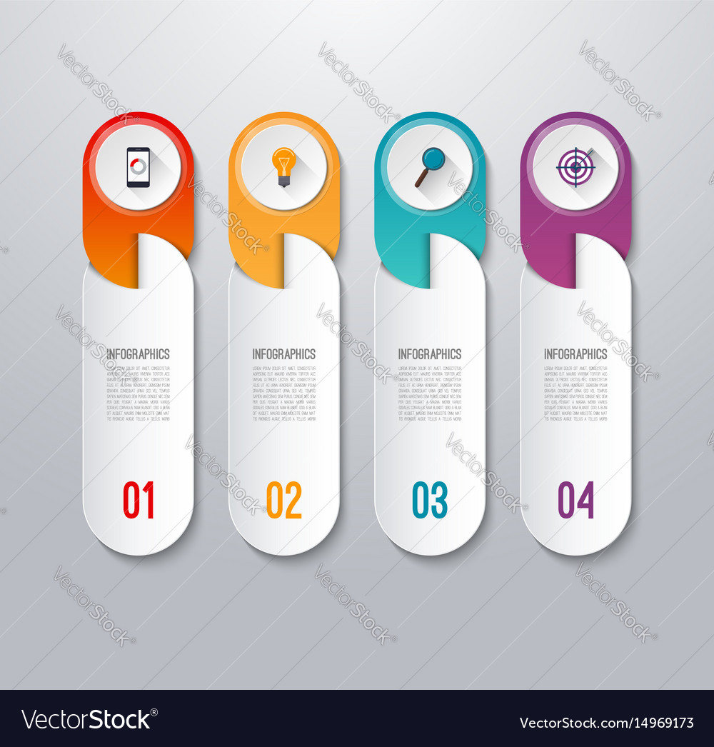 Modern infographic banner with 4 options vector image