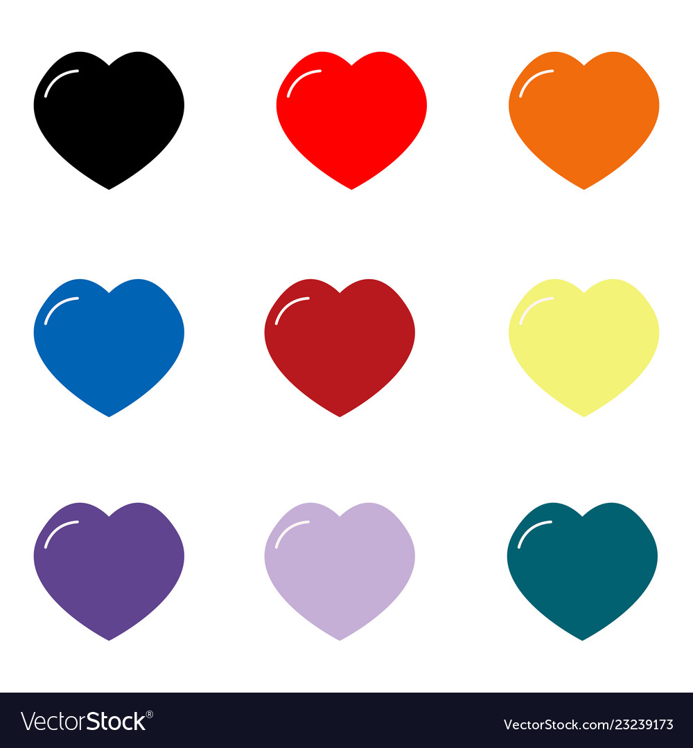 Set hearts icon on white background hearts sign