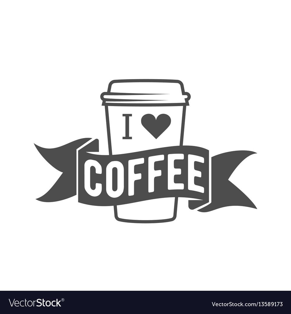 Vintage coffee badge logotyp