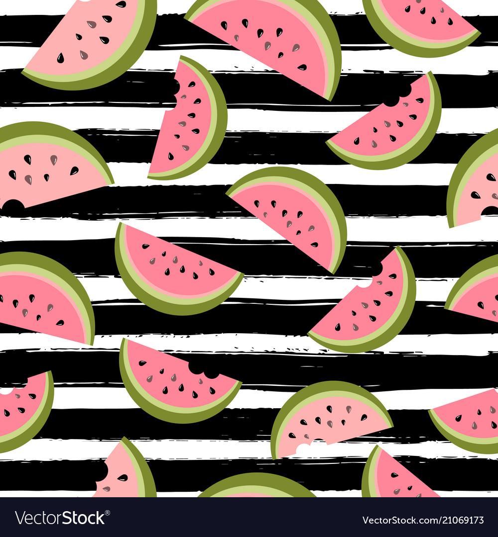Water melon seamless pattern striped