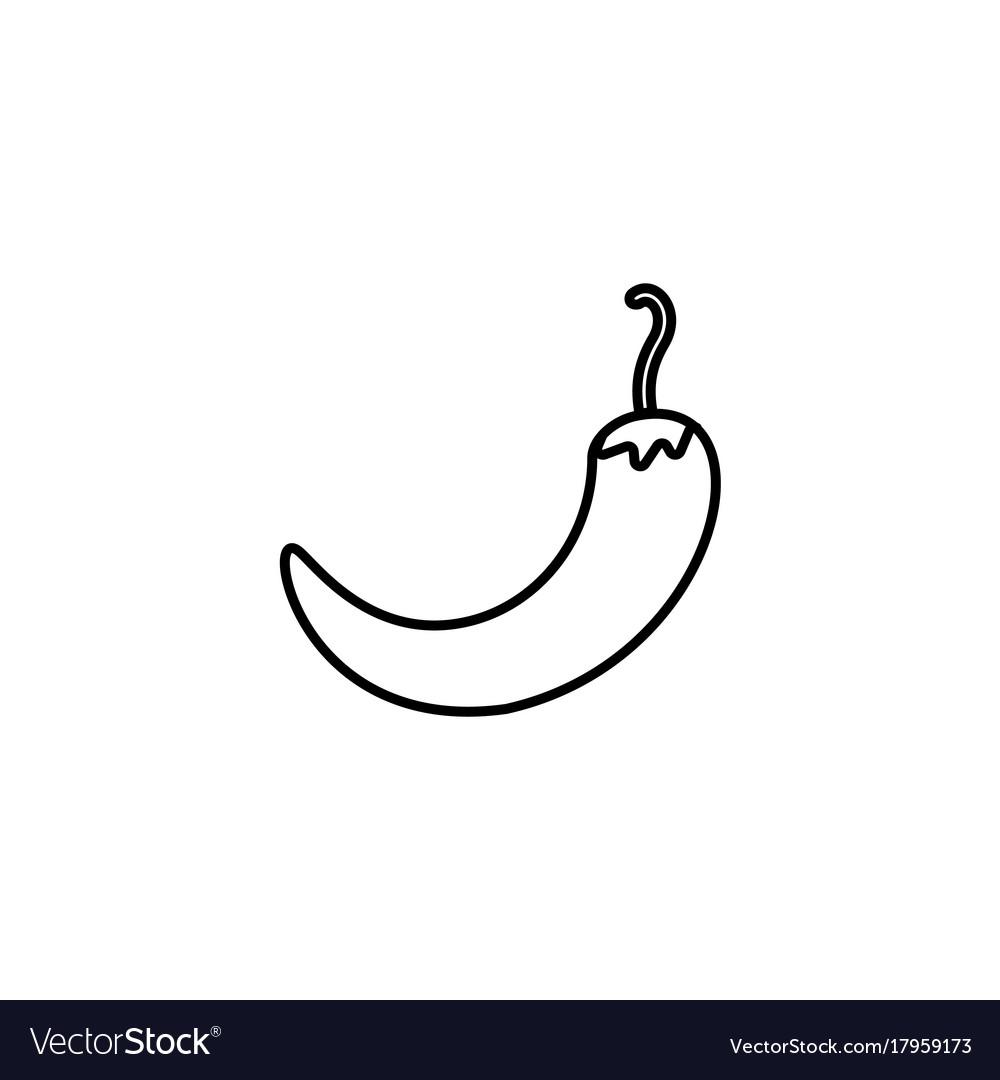 Web line icon pepper chili