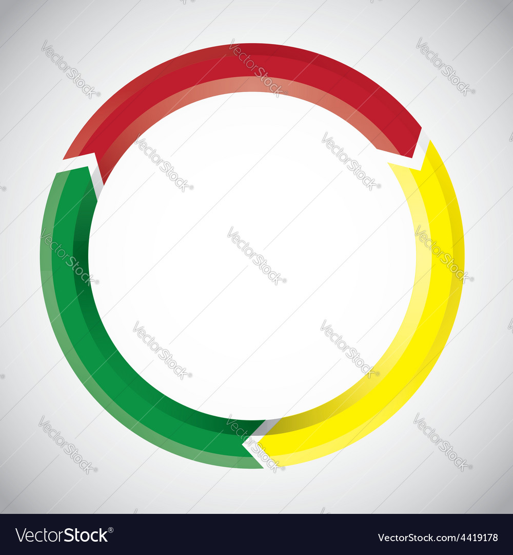 Colorful circular arrow chart