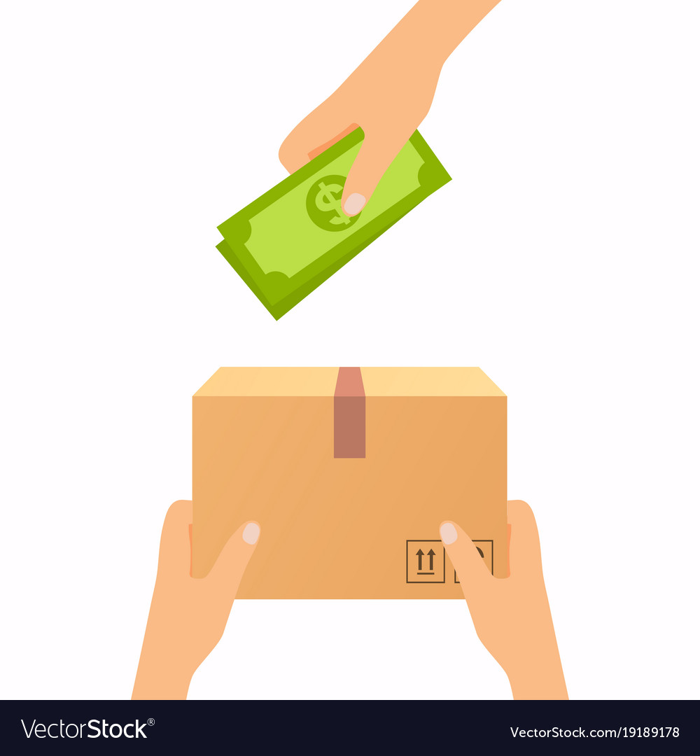 491acb62a17 Concept for delivery service cash on delivery Vector Image