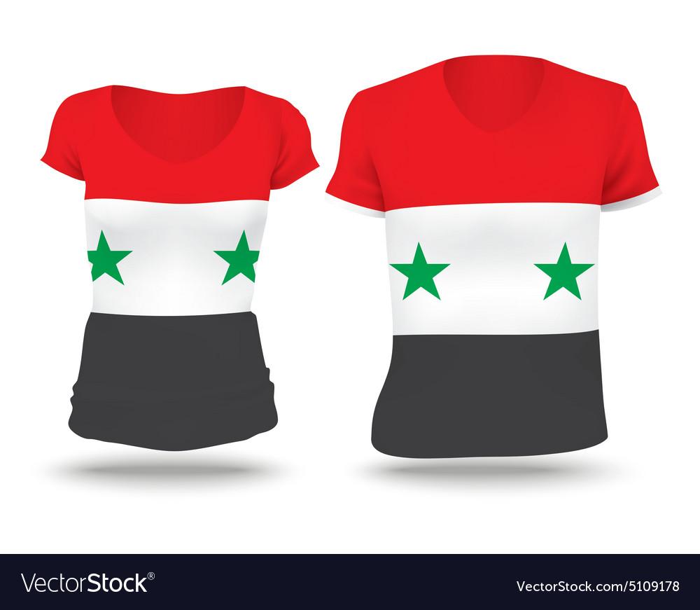 Flag shirt design of Syria vector image