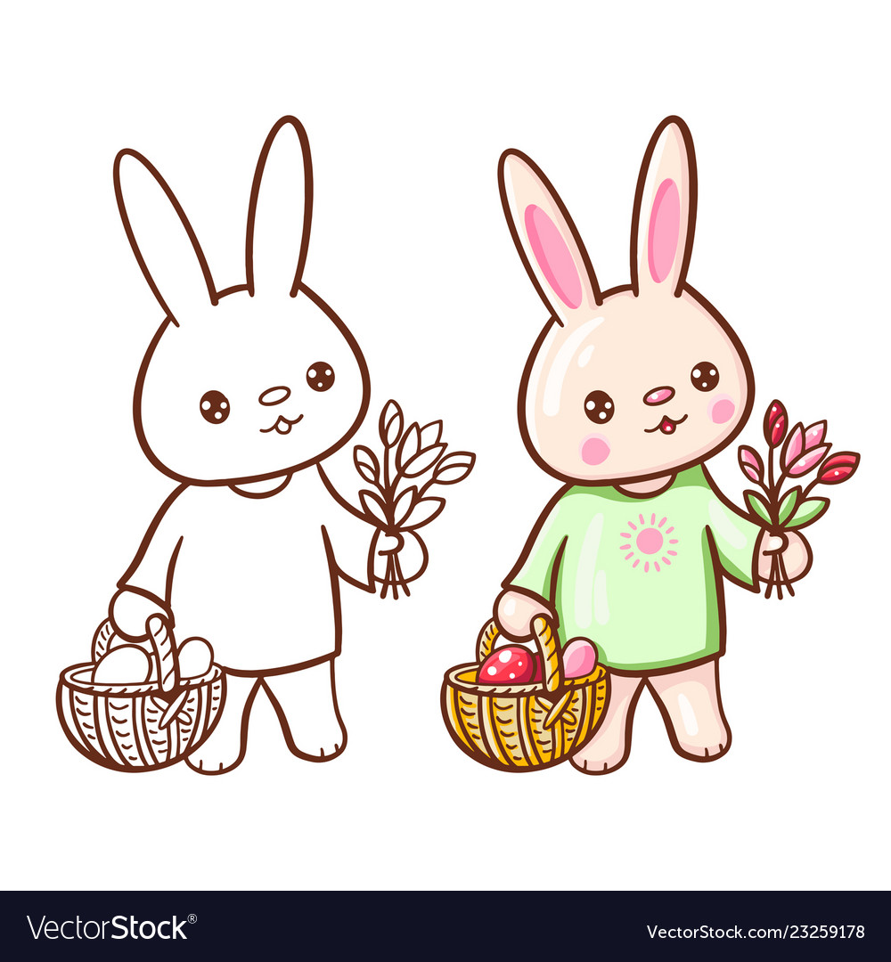 Funny cartoon bunny