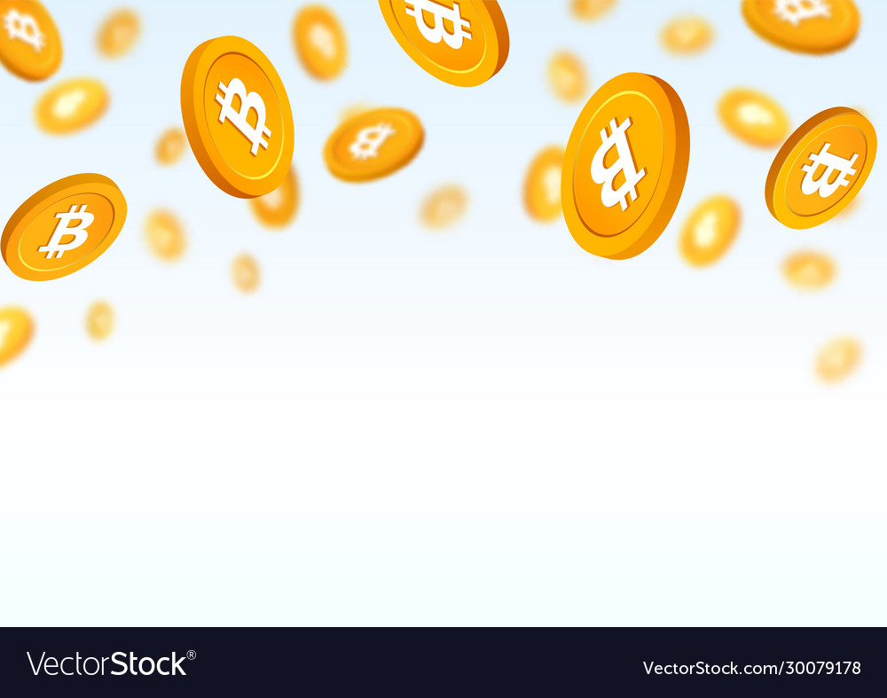 Gold coins bitcoin falling down